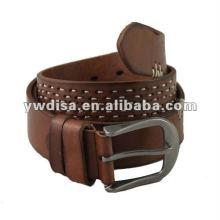 Cinturón hecho a mano de cuero genuino para el hombre