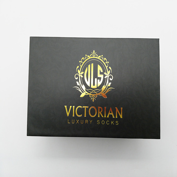 Горячая штамповка Custom Packaging Storge Gift Sock Box