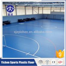 Plancher de cour de sports de PVC, rouleau antidérapant de plancher de vinyle de cour de sports de futsal