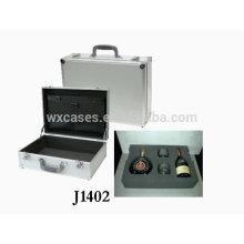 portátil de aluminio caso vino de alta calidad fabricante