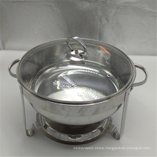 8L Large Double Plate Buffet Food Warmers Stainless Steel Modern Chafing Dish