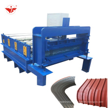 Roof panel curving type vertical curve roll forming machine