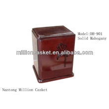 DH-901 solid mahogany dog urn with mahogany color for all