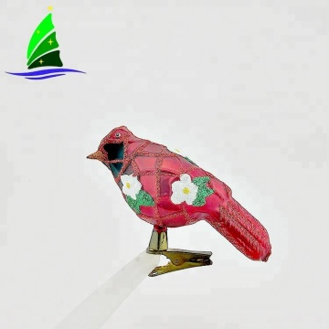 Bird Animal Design Christmas Ornamentos de vidro claros