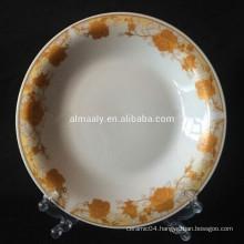 Indonesia design porcelain omega plate for food or soup