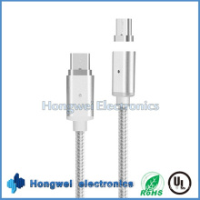 Nylon Braid Two-Sided Type-C USB 3.1 Magnetic USB Cable for iPhone7/6/5s