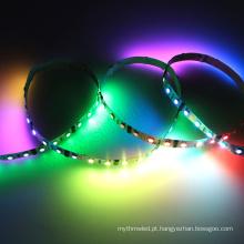 A multi cor conduziu a luz decorativa 5050 smd dmx endereçável rgb 12 volt conduziu tiras claras