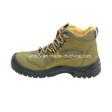 Light Green Nubuck MID-Cut Safety Shoes (HQ03052)