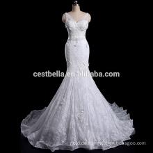 Kundengebundenes hochwertiges Stickerei-Spitze-Nixe-Hochzeits-Kleid