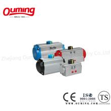 Пневматический привод с реечным приводом и двойным исполнительным механизмом
