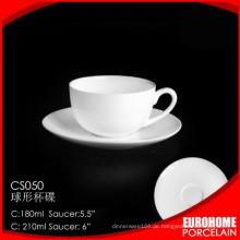 Legen Sie neue Produkte Porzellan Geschirr Kugel Form Teetasse und Untertasse