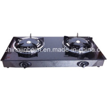 2 Burners Tempered Glass Top 165# Infrared Burner Gas Cooker/Gas Stove