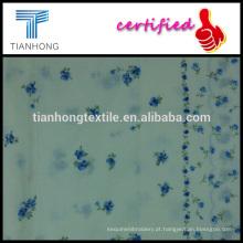 ponto de maquineta de algodão de alta qualidade com flor de tecido de peso leve impressão apto para vestido de camisa