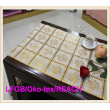 Крючком ПВХ рулон золото длинные кружевные 50см Ширина Циновка таблицы