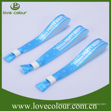 Promotional Heat Transfer Printed Wrist Band Polyester Wristband