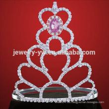 Tiara de plata de plata tiara corona de la fiesta para las mujeres