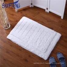 Fournisseur d'or En gros bon marché antidérapant tapis de bain coton imperméable tapis de chauve-souris pour hôtel star