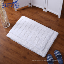 Золотой поставщик Оптовая дешевые нескользящей коврик для ванной хлопок водонепроницаемые летучей мыши коврик для звездочный отель