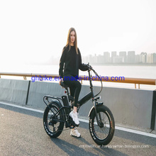 "Lithium Battery Bafang 1000 Watt 48V Full Suspension 20"" Folding Fat Tire Electric Bikes"