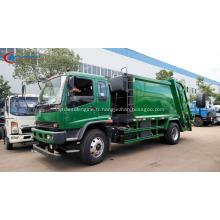 Exporter vers le Myanmar ISUZU 12cbm Garbage Compactor truck