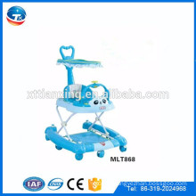 Cheap 7 wheels rolling round baby walker/ baby walker with brakes