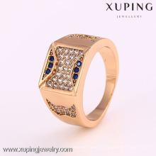 12283-Xuping Atacado moderno dos homens jóias anel azul
