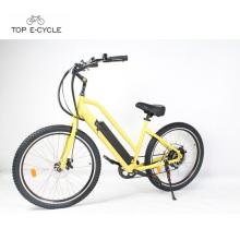Chopper bicycle engine electric start electric beach cruiser bike