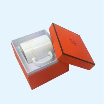 Коробки для кофейных кружек оранжевого цвета на заказ