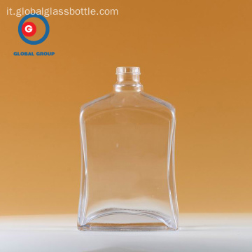 Clear Wine Bottle of Narrow Mouth Vetro Trasparente