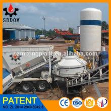 10 - 45m3 / h Fábrica de Betão Móvel Planta Fábrica de Betão Pronto para Alibaba Venda Quente