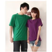 Chemise en coton personnalisée, T-Shirt CVC Spandex