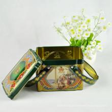 Kundenspezifische Logo-Tee-Zinn-Geschenk-Kasten für Förderung