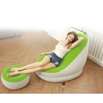Sungoole Single Air Inflatable Lazy Relaxing Chair Furniture Living Room Sofas Beds with pump air sofa for outdoor camping