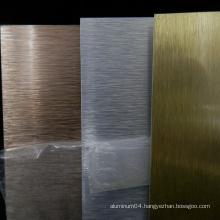 Brushed Gold/Silver Sublimation Aluminum Sheet