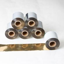 лучшее качество одежды принтер совместимый ttr блестящий золотой цвет принтер штрих-кода термотрансферная лента