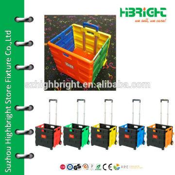 plastic folding hand trolley
