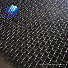 malha da tela de vibração do aço 65Mn da malha da pedreira da mina com a malha do triturador da pedra do gancho