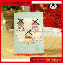 8 design misturado artesanal livre 3d cartões de natal impressos