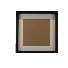 8x10 Black Shadow Box Frame with Soft Linen Back Shatter Resistant Glass Hanging Hardware Included