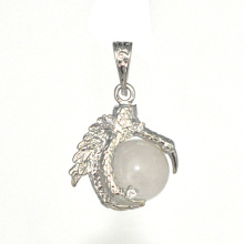 Ювелирные изделия стерлингового серебра 925 пробы 15 мм сфера дракон мяч коготь кулон ювелирные изделия