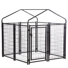 Chain link fence metal dog kennel use outdoor customized size dog  Kennel