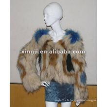 manteau de fourrure de chien réel raton laveur