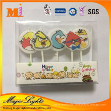 Novelty Mixed Birthday Candle With Mini 5 Cartoon And Plant Life Designs