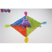 "10 ""Colorful Plush Hippo Consolador Baby Saliva Toalha Stuffed Baby Doudou"