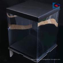 Cuadrado personalizado logo art paper food cake packaing caja de papel