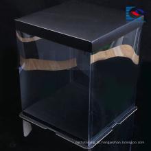Quadrado personalizado caixa de papel packaing de comida de papel arte bolo de comida