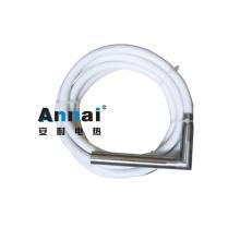 Élément chauffant à cartouche industrielle à angle droit avec tuyau métallique