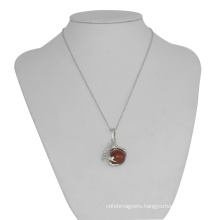 Charm Jewelry Carnelian 15MM Sphere Dragon Ball Claw Pendant