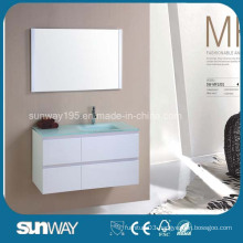 Hot Sale MDF Bathroom Furniture with Glass Sink (SW-MF1201)