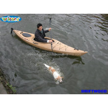 3.44mtr Imitação de Wood-Grain Deck Single Touring Kayak